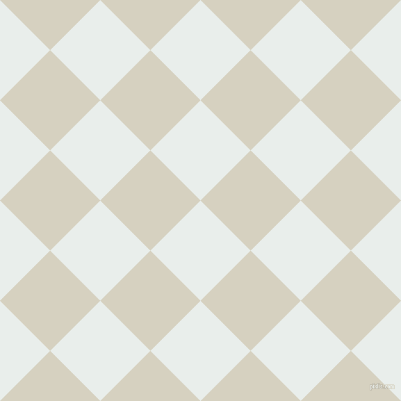 45/135 degree angle diagonal checkered chequered squares checker pattern checkers background, 102 pixel squares size, , Lily White and Ecru White checkers chequered checkered squares seamless tileable