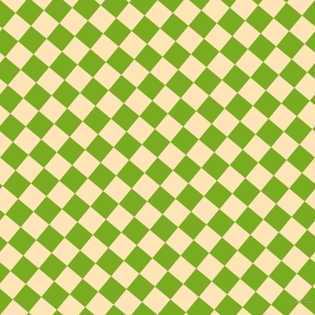 50/140 degree angle diagonal checkered chequered squares checker pattern checkers background, 40 pixel square size, Lima and Moccasin checkers chequered checkered squares seamless tileable