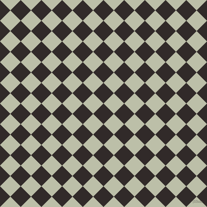 45/135 degree angle diagonal checkered chequered squares checker pattern checkers background, 48 pixel squares size, , Livid Brown and Beryl Green checkers chequered checkered squares seamless tileable
