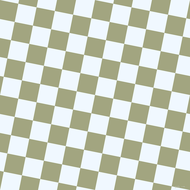 79/169 degree angle diagonal checkered chequered squares checker pattern checkers background, 64 pixel squares size, Locust and Alice Blue checkers chequered checkered squares seamless tileable