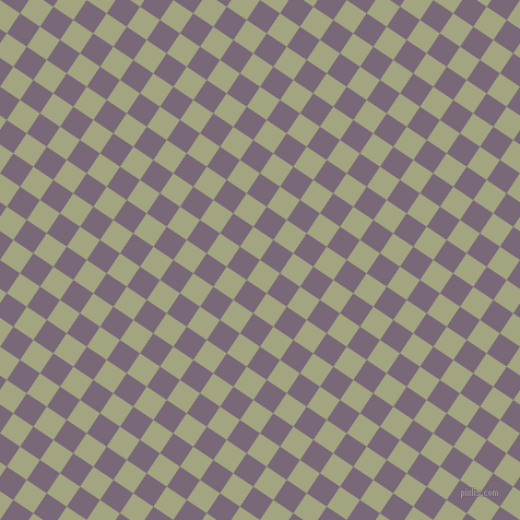 56/146 degree angle diagonal checkered chequered squares checker pattern checkers background, 22 pixel square size, Locust and Old Lavender checkers chequered checkered squares seamless tileable