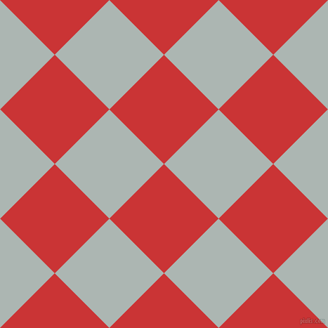 45/135 degree angle diagonal checkered chequered squares checker pattern checkers background, 110 pixel squares size, , Mahogany and Periglacial Blue checkers chequered checkered squares seamless tileable