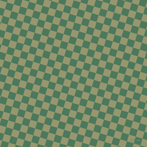 73/163 degree angle diagonal checkered chequered squares checker pattern checkers background, 24 pixel square size, , Malachite Green and Como checkers chequered checkered squares seamless tileable