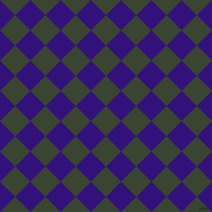 45/135 degree angle diagonal checkered chequered squares checker pattern checkers background, 73 pixel square size, , Mallard and Persian Indigo checkers chequered checkered squares seamless tileable