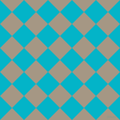 45/135 degree angle diagonal checkered chequered squares checker pattern checkers background, 67 pixel square size, , Malta and Iris Blue checkers chequered checkered squares seamless tileable