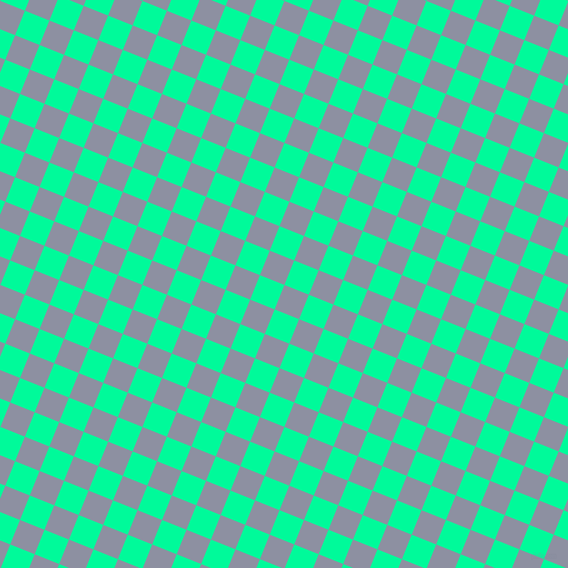 68/158 degree angle diagonal checkered chequered squares checker pattern checkers background, 37 pixel squares size, , Manatee and Medium Spring Green checkers chequered checkered squares seamless tileable