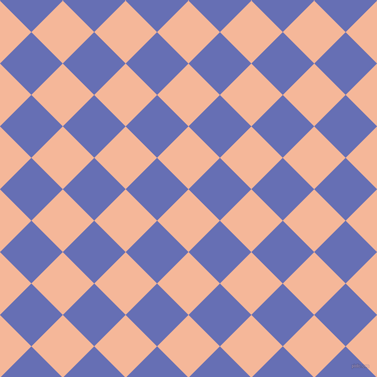 45/135 degree angle diagonal checkered chequered squares checker pattern checkers background, 89 pixel squares size, , Mandys Pink and Chetwode Blue checkers chequered checkered squares seamless tileable