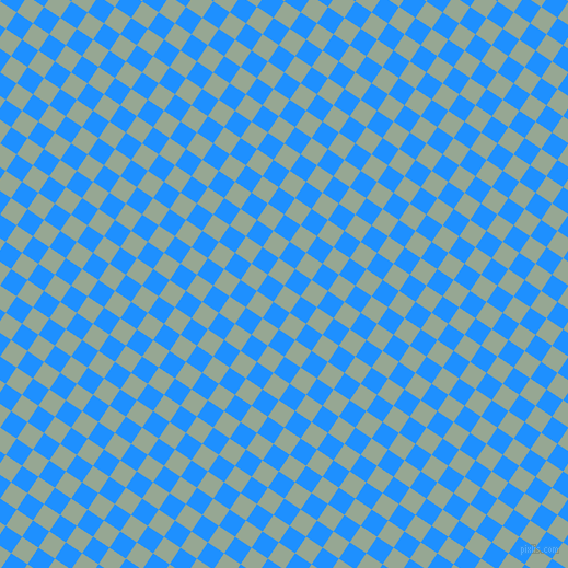 56/146 degree angle diagonal checkered chequered squares checker pattern checkers background, 18 pixel squares size, , Mantle and Dodger Blue checkers chequered checkered squares seamless tileable