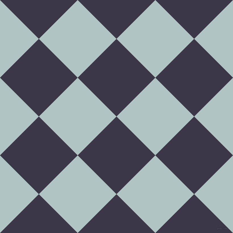 45/135 degree angle diagonal checkered chequered squares checker pattern checkers background, 193 pixel square size, , Martinique and Jungle Mist checkers chequered checkered squares seamless tileable