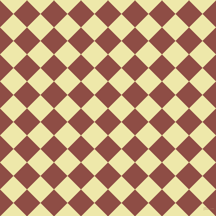 45/135 degree angle diagonal checkered chequered squares checker pattern checkers background, 64 pixel square size, , Matrix and Pale Goldenrod checkers chequered checkered squares seamless tileable