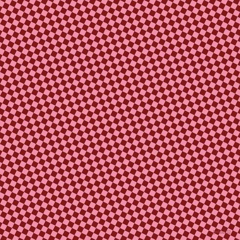 63/153 degree angle diagonal checkered chequered squares checker pattern checkers background, 11 pixel squares size, , Mauvelous and Falu Red checkers chequered checkered squares seamless tileable