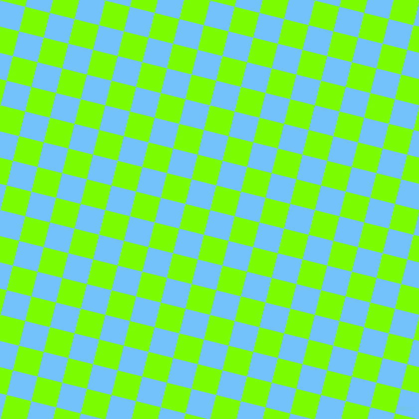 76/166 degree angle diagonal checkered chequered squares checker pattern checkers background, 51 pixel square size, , Maya Blue and Lawn Green checkers chequered checkered squares seamless tileable