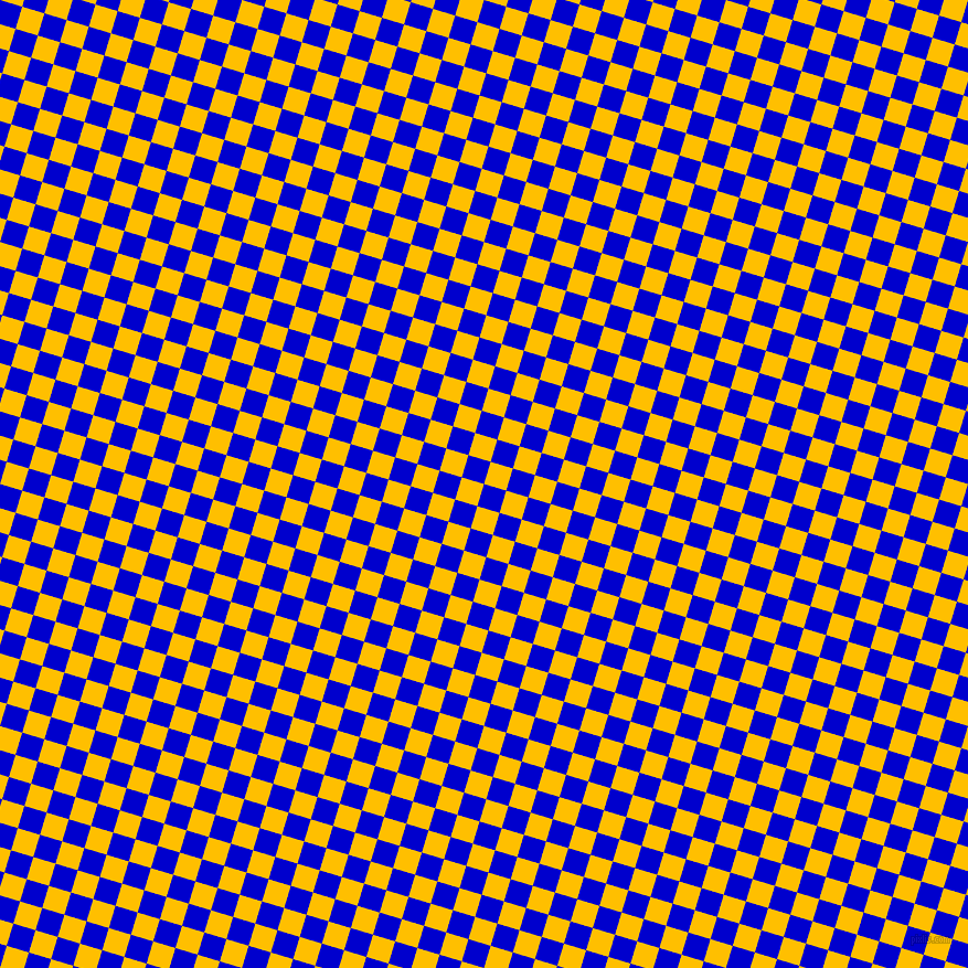 73/163 degree angle diagonal checkered chequered squares checker pattern checkers background, 21 pixel square size, , Medium Blue and Amber checkers chequered checkered squares seamless tileable