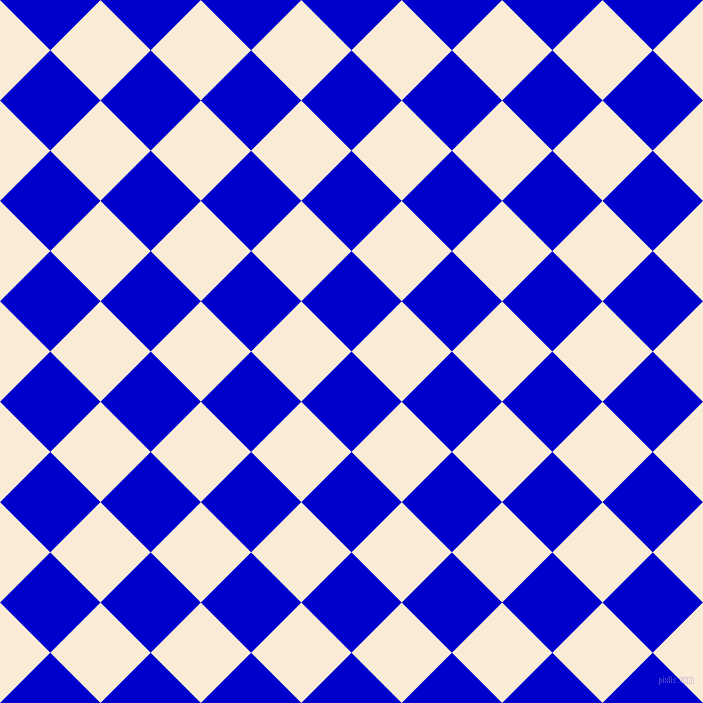 45/135 degree angle diagonal checkered chequered squares checker pattern checkers background, 71 pixel squares size, , Medium Blue and Antique White checkers chequered checkered squares seamless tileable