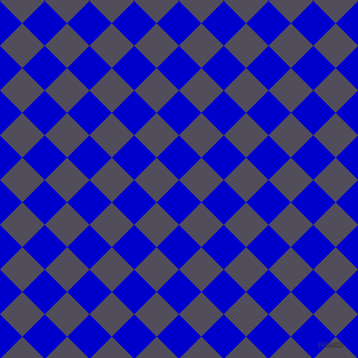 45/135 degree angle diagonal checkered chequered squares checker pattern checkers background, 45 pixel square size, , Medium Blue and Mulled Wine checkers chequered checkered squares seamless tileable