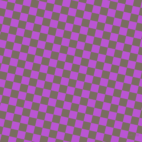 77/167 degree angle diagonal checkered chequered squares checker pattern checkers background, 25 pixel square size, , Medium Orchid and Sandstone checkers chequered checkered squares seamless tileable