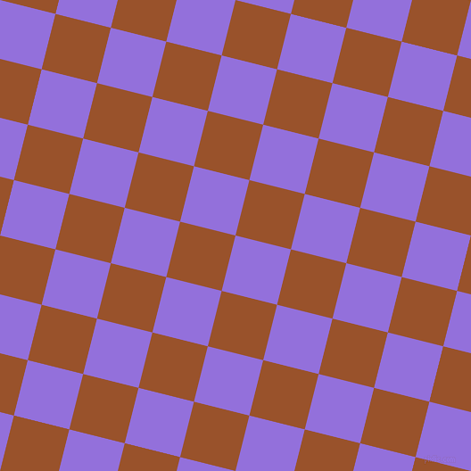 76/166 degree angle diagonal checkered chequered squares checker pattern checkers background, 64 pixel square size, , Medium Purple and Hawaiian Tan checkers chequered checkered squares seamless tileable