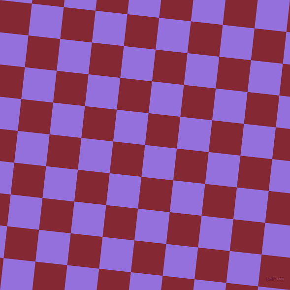 84/174 degree angle diagonal checkered chequered squares checker pattern checkers background, 65 pixel squares size, , Medium Purple and Shiraz checkers chequered checkered squares seamless tileable