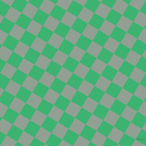 59/149 degree angle diagonal checkered chequered squares checker pattern checkers background, 51 pixel square size, , Medium Sea Green and Pewter checkers chequered checkered squares seamless tileable