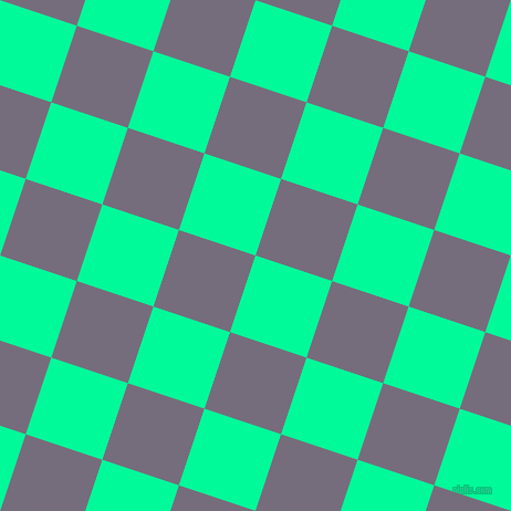 72/162 degree angle diagonal checkered chequered squares checker pattern checkers background, 73 pixel square size, , Medium Spring Green and Mamba checkers chequered checkered squares seamless tileable