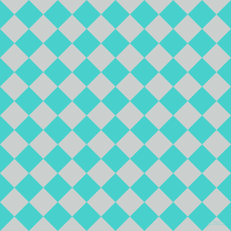 45/135 degree angle diagonal checkered chequered squares checker pattern checkers background, 41 pixel square size, , Medium Turquoise and Geyser checkers chequered checkered squares seamless tileable