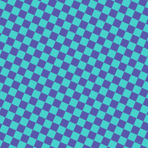 66/156 degree angle diagonal checkered chequered squares checker pattern checkers background, 24 pixel square size, , Medium Turquoise and Rich Blue checkers chequered checkered squares seamless tileable