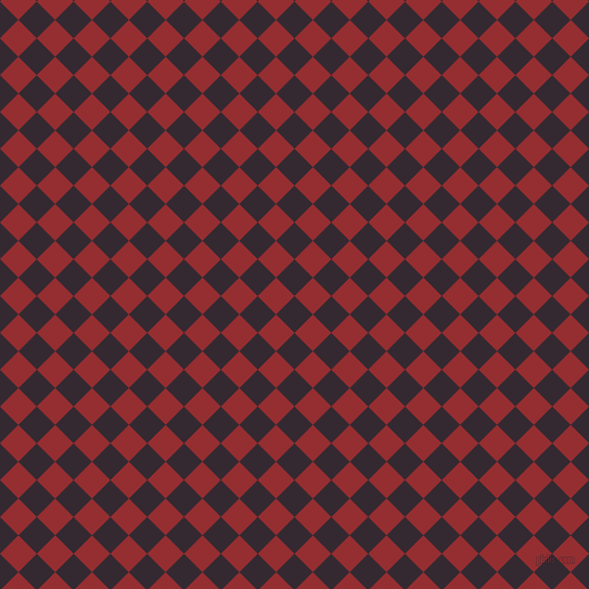 45/135 degree angle diagonal checkered chequered squares checker pattern checkers background, 24 pixel square size, , Melanzane and Guardsman Red checkers chequered checkered squares seamless tileable
