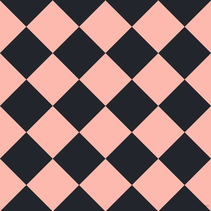 45/135 degree angle diagonal checkered chequered squares checker pattern checkers background, 130 pixel square size, , Melon and Black Russian checkers chequered checkered squares seamless tileable