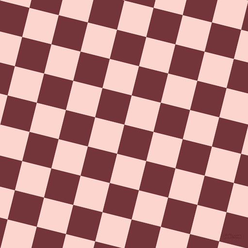 76/166 degree angle diagonal checkered chequered squares checker pattern checkers background, 62 pixel squares size, Merlot and Cosmos checkers chequered checkered squares seamless tileable