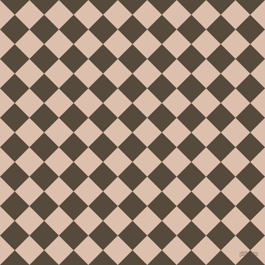 45/135 degree angle diagonal checkered chequered squares checker pattern checkers background, 41 pixel squares size, , Metallic Bronze and Just Right checkers chequered checkered squares seamless tileable