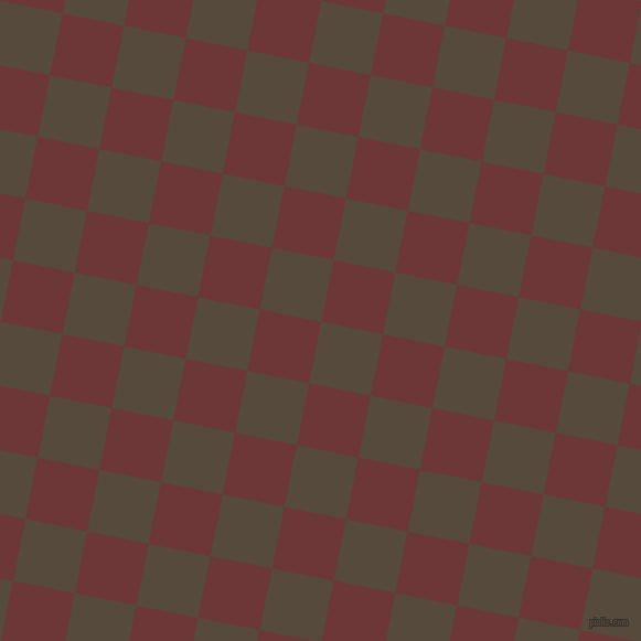 79/169 degree angle diagonal checkered chequered squares checker pattern checkers background, 57 pixel square size, , Metallic Bronze and Sanguine Brown checkers chequered checkered squares seamless tileable