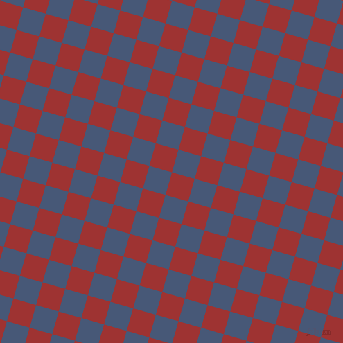 74/164 degree angle diagonal checkered chequered squares checker pattern checkers background, 34 pixel squares size, , Milano Red and Chambray checkers chequered checkered squares seamless tileable