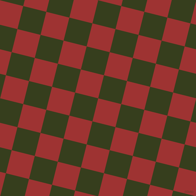 76/166 degree angle diagonal checkered chequered squares checker pattern checkers background, 94 pixel square size, , Milano Red and Turtle Green checkers chequered checkered squares seamless tileable