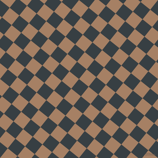 51/141 degree angle diagonal checkered chequered squares checker pattern checkers background, 43 pixel squares size, , Mirage and Medium Wood checkers chequered checkered squares seamless tileable
