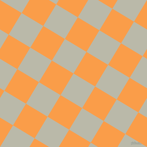 59/149 degree angle diagonal checkered chequered squares checker pattern checkers background, 85 pixel square size, , Mist Grey and Sunshade checkers chequered checkered squares seamless tileable