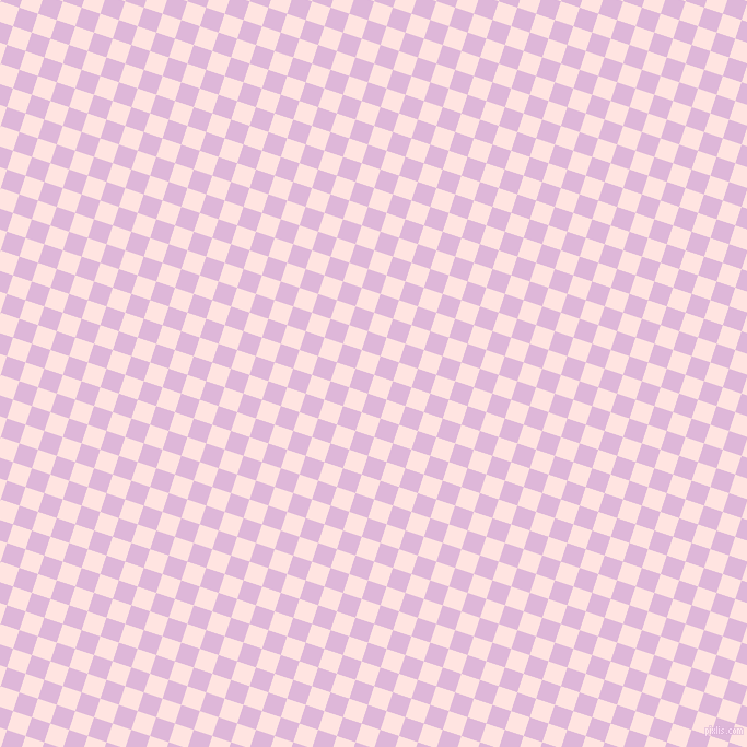72/162 degree angle diagonal checkered chequered squares checker pattern checkers background, 18 pixel squares size, , Misty Rose and French Lilac checkers chequered checkered squares seamless tileable