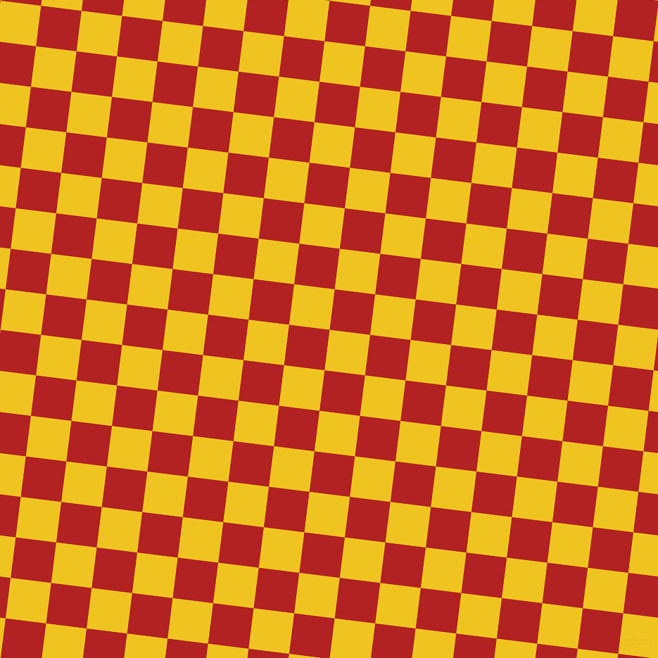 83/173 degree angle diagonal checkered chequered squares checker pattern checkers background, 58 pixel squares size, , Moon Yellow and Fire Brick checkers chequered checkered squares seamless tileable