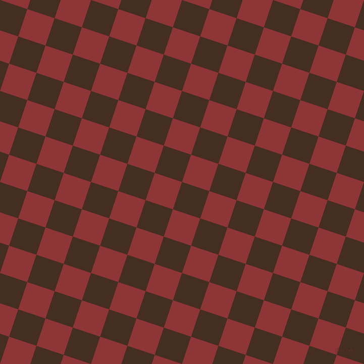 72/162 degree angle diagonal checkered chequered squares checker pattern checkers background, 57 pixel square size, , Morocco Brown and Well Read checkers chequered checkered squares seamless tileable