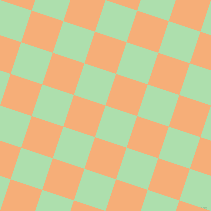 72/162 degree angle diagonal checkered chequered squares checker pattern checkers background, 110 pixel square size, , Moss Green and Tacao checkers chequered checkered squares seamless tileable