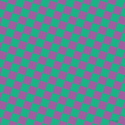 72/162 degree angle diagonal checkered chequered squares checker pattern checkers background, 26 pixel square size, , Mountain Meadow and Violet Blue checkers chequered checkered squares seamless tileable