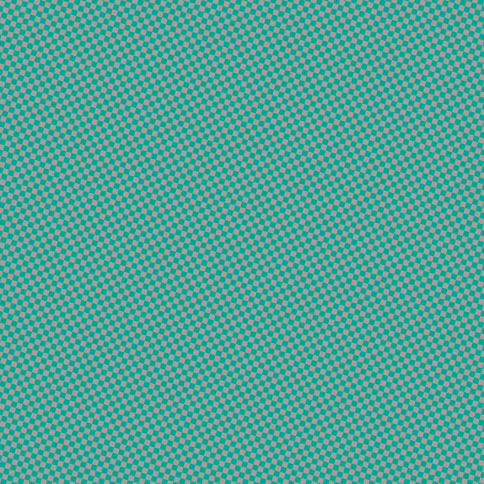 74/164 degree angle diagonal checkered chequered squares checker pattern checkers background, 11 pixel square size, , Mountain Mist and Persian Green checkers chequered checkered squares seamless tileable