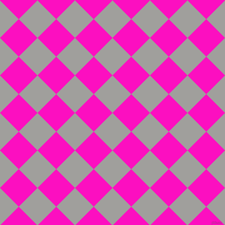 45/135 degree angle diagonal checkered chequered squares checker pattern checkers background, 93 pixel squares size, , Mountain Mist and Shocking Pink checkers chequered checkered squares seamless tileable