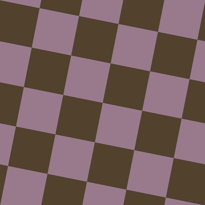 79/169 degree angle diagonal checkered chequered squares checker pattern checkers background, 136 pixel square size, , Mountbatten Pink and Deep Bronze checkers chequered checkered squares seamless tileable