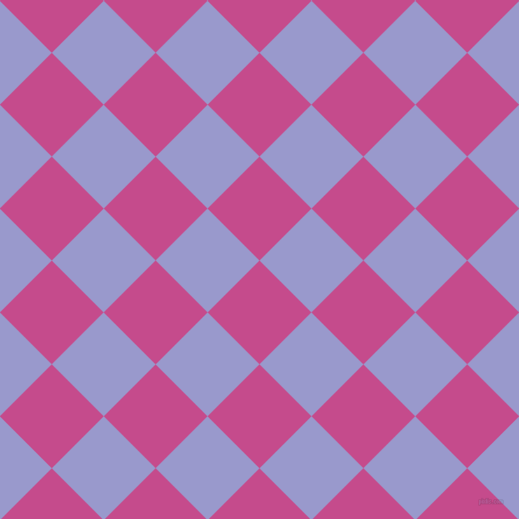 45/135 degree angle diagonal checkered chequered squares checker pattern checkers background, 105 pixel square size, , Mulberry and Blue Bell checkers chequered checkered squares seamless tileable