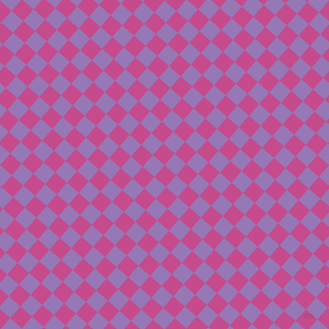 49/139 degree angle diagonal checkered chequered squares checker pattern checkers background, 31 pixel squares size, , Mulberry and Purple Mountain