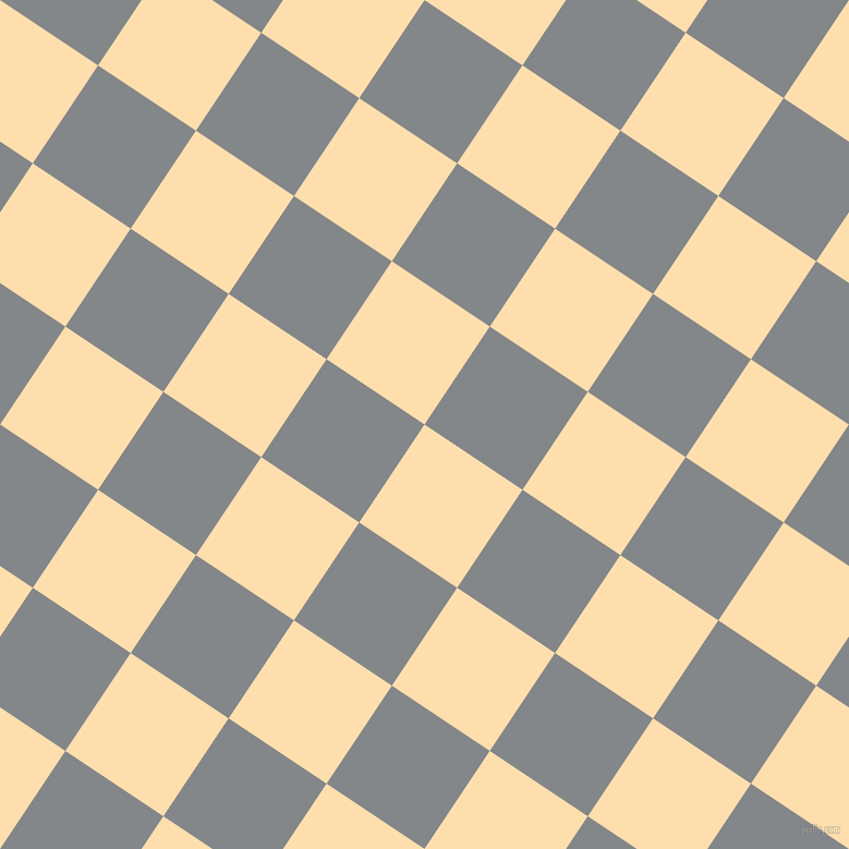 56/146 degree angle diagonal checkered chequered squares checker pattern checkers background, 108 pixel squares size, , Navajo White and Aluminium checkers chequered checkered squares seamless tileable
