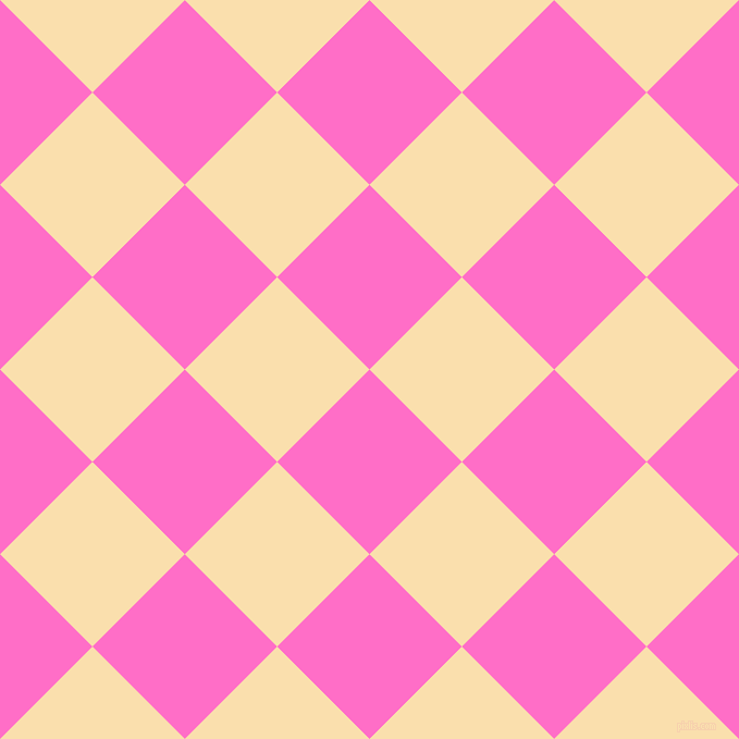 45/135 degree angle diagonal checkered chequered squares checker pattern checkers background, 120 pixel squares size, Neon Pink and Peach-Yellow checkers chequered checkered squares seamless tileable