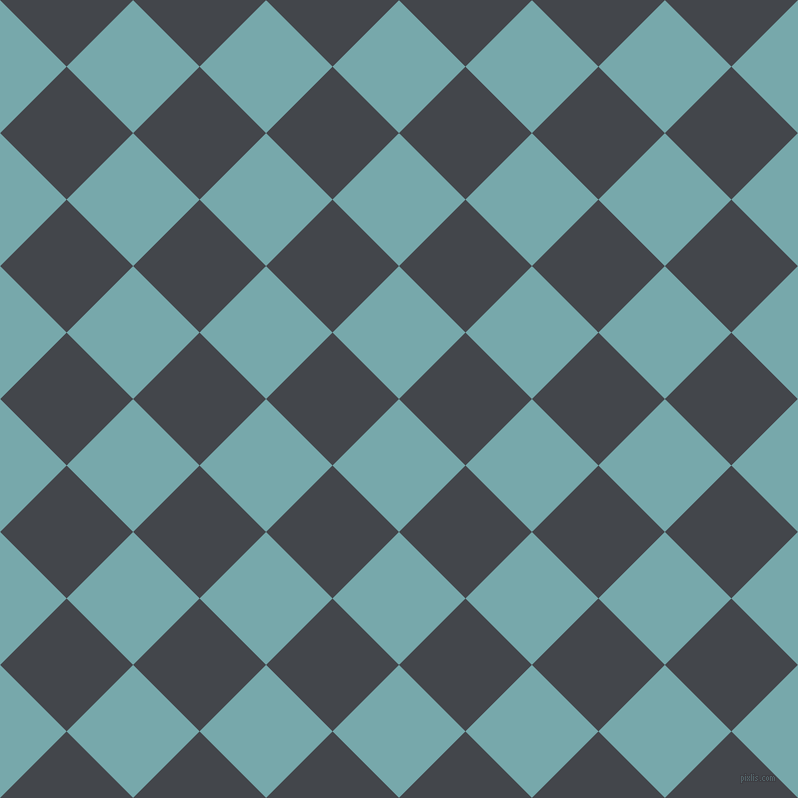 45/135 degree angle diagonal checkered chequered squares checker pattern checkers background, 94 pixel square size, , Neptune and Steel Grey checkers chequered checkered squares seamless tileable