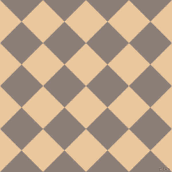 45/135 degree angle diagonal checkered chequered squares checker pattern checkers background, 106 pixel squares size, , New Tan and Hurricane checkers chequered checkered squares seamless tileable