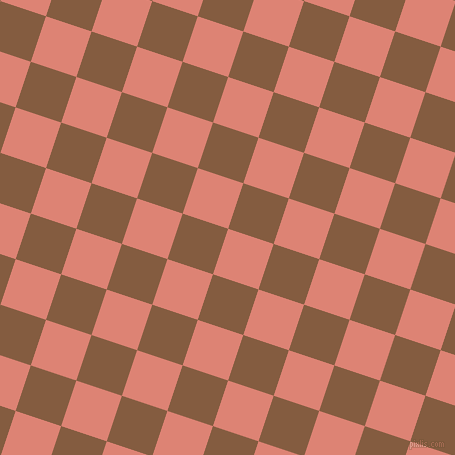 72/162 degree angle diagonal checkered chequered squares checker pattern checkers background, 48 pixel square size, , New York Pink and Potters Clay checkers chequered checkered squares seamless tileable